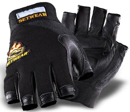 SetWear SWF-05-012 Leather Fingerless Glove - Size XXL