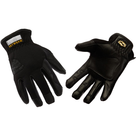 SetWear SWP-05-008 Pro Leather Gloves Black Small