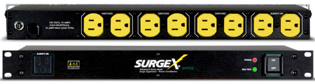 SurgeX SX1115 Surge Eliminator & Power Conditioner - 15 Amps at 120 Volts - 1 RU
