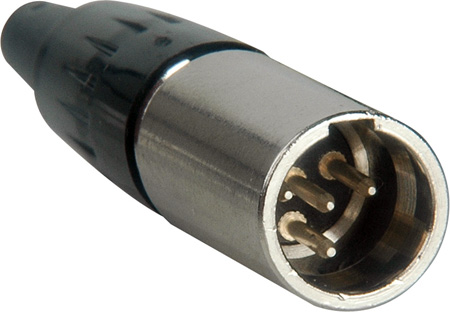 Switchcraft TA4MX Tini Q-G Miniature Connector Straight Male Cord Plug
