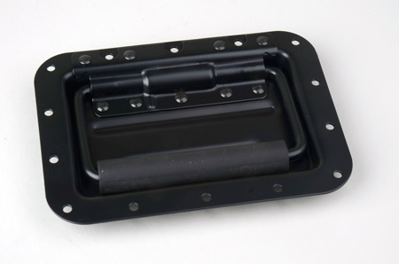 Black Recessed Handle 5in x 7in