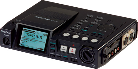 Tascam HD-P2 High Resolution Compact Flash Stereo Recorder w/Time Code