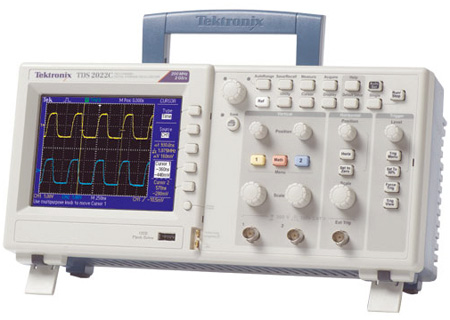 Tektronix TDS2022C 200 MHz 2 Channel 2GS/s Digital Storage Oscilloscope with Active TFT Color Display