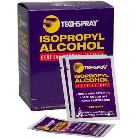 Techspray 1610-50PK Isopropyl Alcohol Pre-Saturated Wipes 50 Count