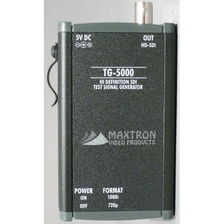 Maxtron TG-5000B HD-SDI Pattern Gen With Internal Li-Ion Batt