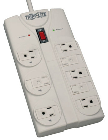 Tripp Lite 6 Outlet Surge Suppressor with Modem / Fax protection