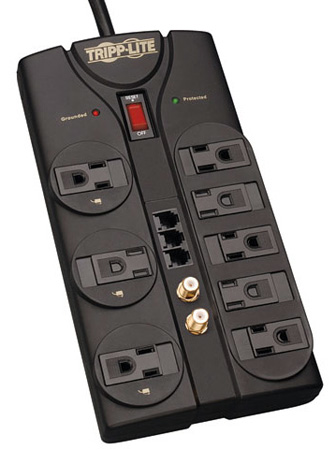 Tripplite TLP808TELTV 8 Outlet Surge Suppressor with F Coax Jacks