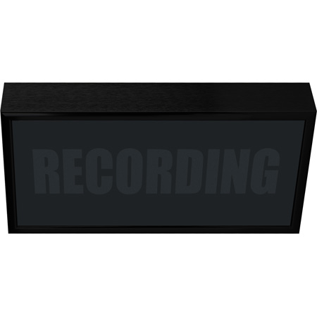 Low Profile Vertical Studio Warning Light - RECORDING in Silver Tone