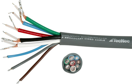 TecNec CCJAR EIAJ 10-Pin Bulk Camera Cable Per Ft.