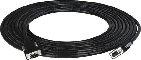 TecNec Plenum Rated HD-15 Male/HD-15 Male SVGA Cable Black 100 Ft.