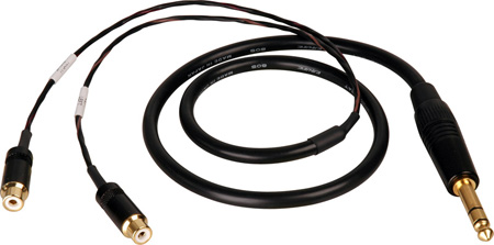 TecNec Premium Y-Cable - 1/4 Inch Stereo Male To 2 - RCA Females -25ft