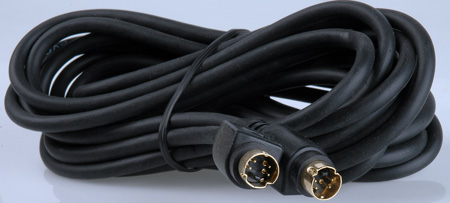 4-Pin Male to 4-Pin Male S-Video Cable 15 Foot