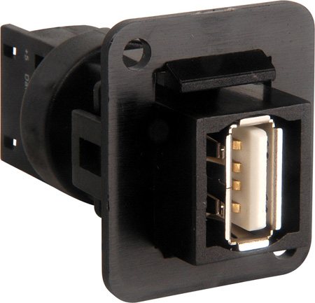 TecNec Solderless USB Type A Over Cat5e or Cat6 D Series Mount