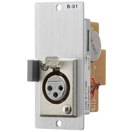 TOA B-21S Balanced Line Input Module Remote Volume Control Screw Terminals