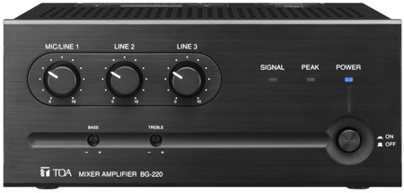 TOA BG-220 CU 20 W Three-Input Mixer Amplifier for Background Music and General Announcement