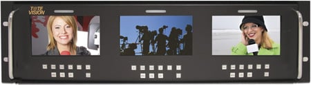ToteVision LED-500X3-3GSDI Three 5 Inch LED Monitors in Rack Mount
