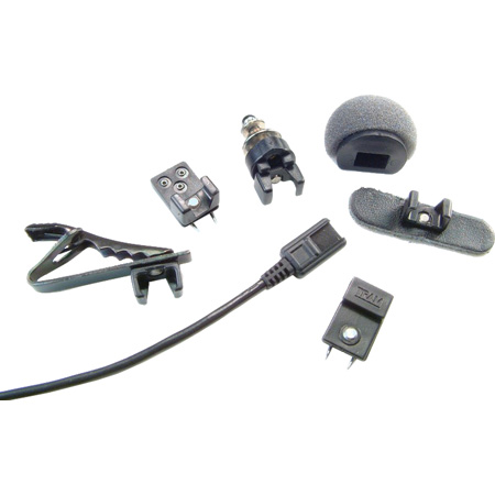 Tram TR50 Black Lavalier Microphone with Shure TA4F Positive Bias