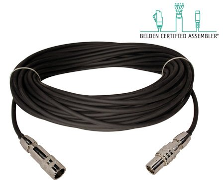 Belden 1857A & Kings Triloc Male to Female Triax Cable - 125 Foot