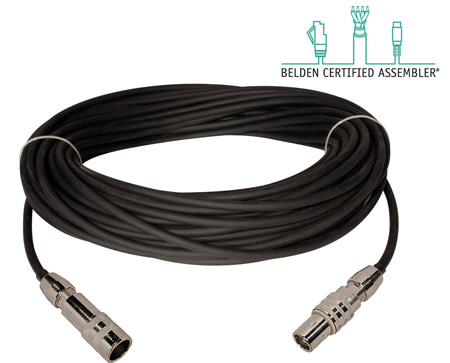 Triax Cable Belden 1858A with Kings Triloc M-F Connectors 100 Foot