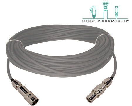 Belden 1859A Plenum Triax Cable 200 Foot with Kings Connnectors