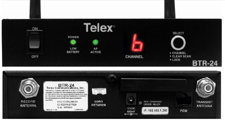 Telex BTR-24 2.4 GHz Multi-Channel Master Station Wireless Intercom