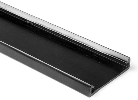 HellermannTyton 181-94003 4-Inch Wide/6 Foot Length PVC Wiring Duct Cover for TYT-4X4 - Black
