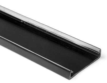 Hellermann Tyton TC4BK4 Wiring Duct Cover 4 Inch Wide/ Black/ 6 Ft. Length
