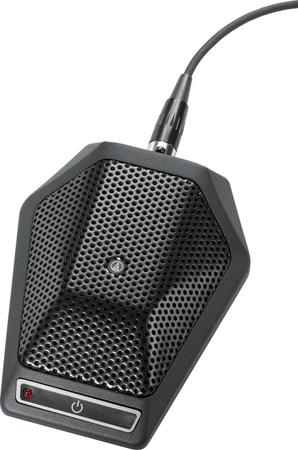 Audio-Technica U891RX Cardioid Unipoint Boundry Mic W/Programmable Switch - Black