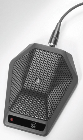 Audio-Technica U891RCX Cardioid Condenser Boundary Microphone with Local or Remote Switching