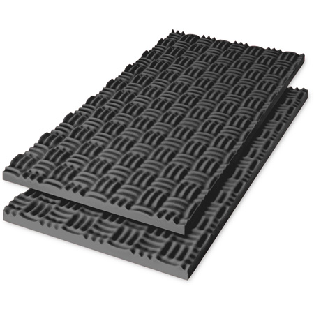 Sonex Classic Polyurethane Acoustic Foam 24 x 48 x 4 Inch Box of 4 - Charcoal