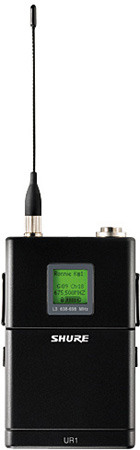 Shure UR1 Bodypack Transmitter And Threaded TA4F Adapter J5 578-638MHz