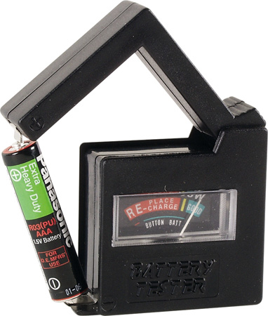 Vellemann BATTEST Compact Pocket Battery Tester For AAA/AA/C/D/9V and Button Cell Batteries