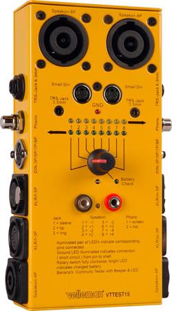 Velleman VTTEST15 SuperTest 10-Way Cable Tester
