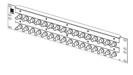 ADC-Commscope VI-32-DES-W 2RU 2x16 BNC Bulkhead Panel