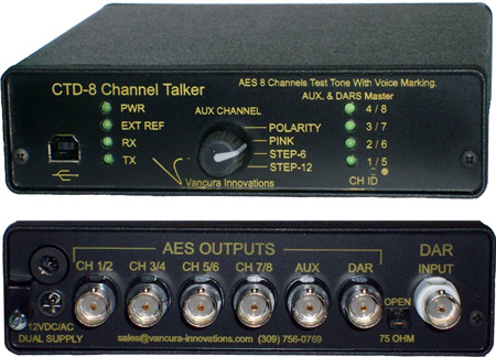 Channel Talker CTD-8 Audio Tone Generator w/Voice ID 8-Channel AES/EBU
