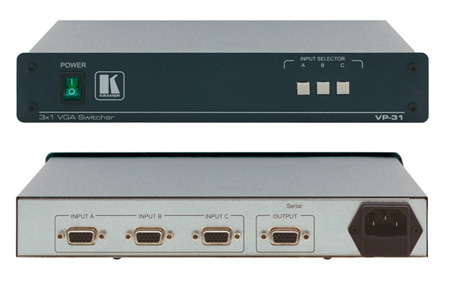 Kramer VP-31 3x1 VGA Swticher - Ranges from VGA-UXGA