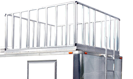 Production Trailer 8ft Reinforced Observation Deck Option with Railings & Ladder