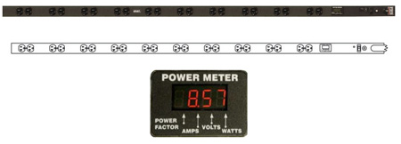 Geist VRTBC200-10210TL Digital Power Meter with Twist-Lock Plug