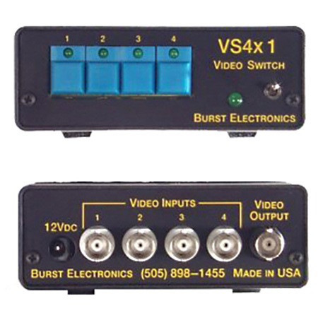 Burst VS-8X1R Vertical Interval 8x1 Active Switcher with RS232 on 3.5mm Conn