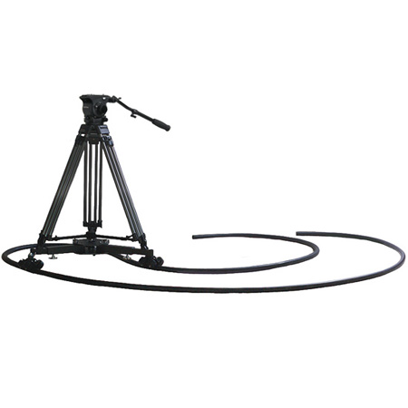 VariZoom VZ-CINETRAC-MASTER FH100 Fluid Head/ Dolly/ TC100A Tripod/ 22 Ft. Track