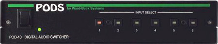 Ward Beck POD10 6x1 AES/EBU Digital Audio Switcher - 75 Ohm