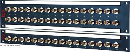 AVP 2x24/2RU/48 JJ300 4K/8K UHD 24 Ghz Feedthru BNC Non-Recessed Patchbay