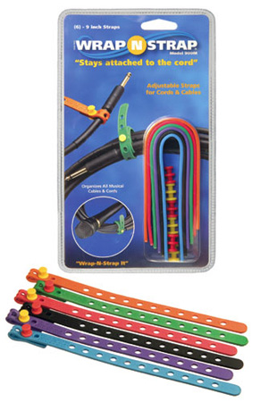 Wrap N Strap 900M 9inch Adjustabl Cord and Cable Straps/Fasteners - 6 pack (Mixed Colors)
