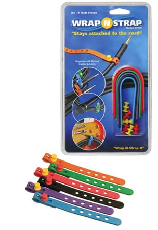 Wrap N Strap 906M 6inch Adjustabl Cord and Cable Straps/Fasteners - 6 pack (Mixed Colors)