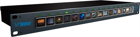 Wohler PRESTO 16x1 OLED Multi-Format Audio/Video Source Switcher
