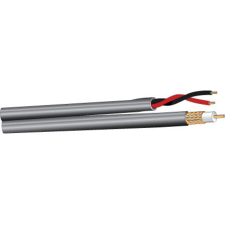 West Penn Wire 252815 RG59/U CCTV plus Power Coaxial Cable Plenum - Per Ft