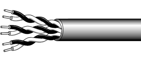 West Penn WP54980 Cat3 3-Pair Plenum Cable (1000 Ft.)