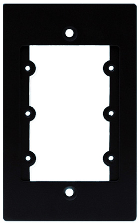 Kramer Single Gang Frame to hold 3 Wall Plate Inserts