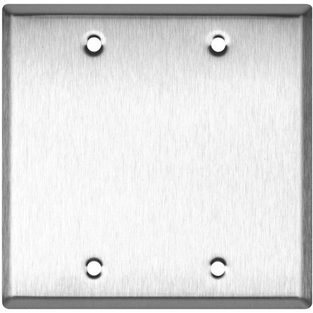Blank Brown Nylon Double Gang Wall Plate