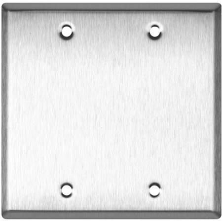 Blank Double Gang Black Anodized Aluminum Wall Plate